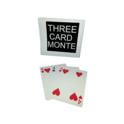Three Card Monte trick where the middle card cannot be found.