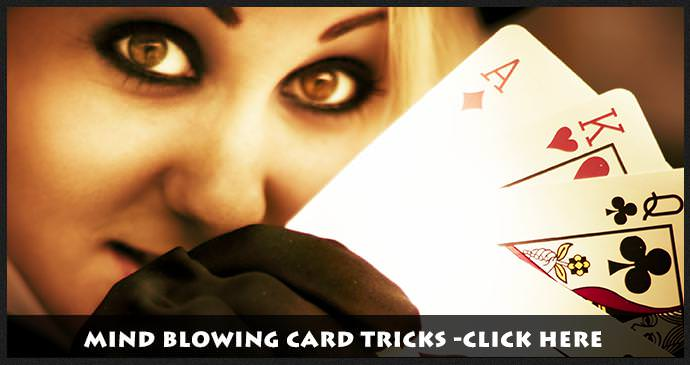 Girl Holding Cards -Tricks with Cards