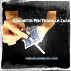 Cigarette Thru Card Trick