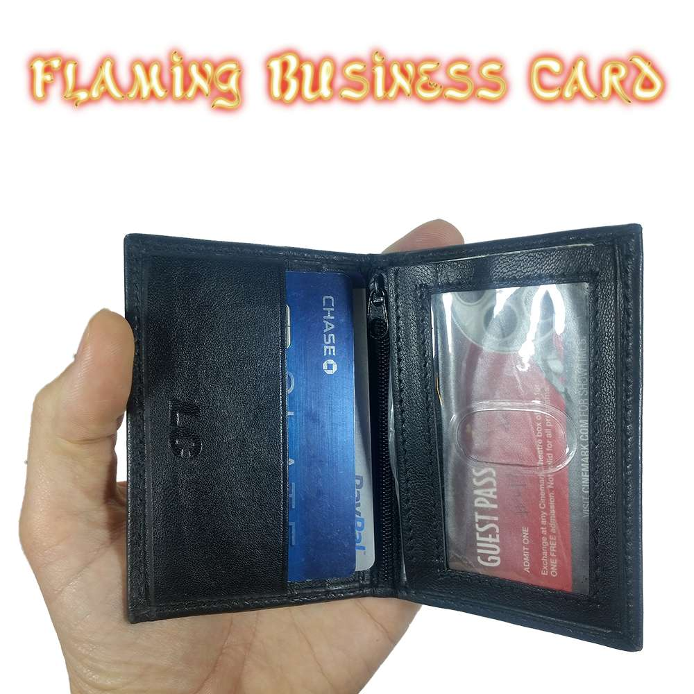 Flaming business card wallet compare to hot leads hot wallet flaming business card magicingreecefo Gallery