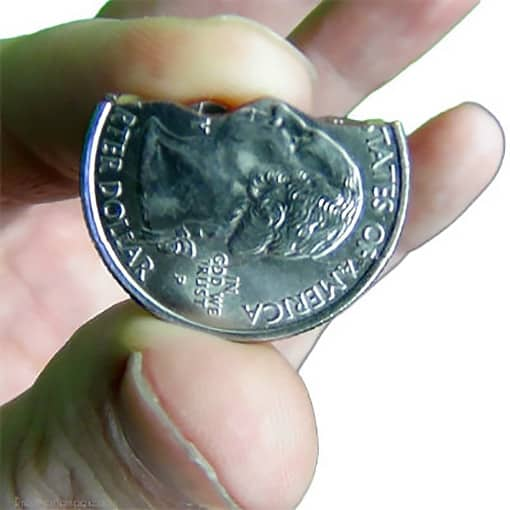 Folding Coin Biting Quarter