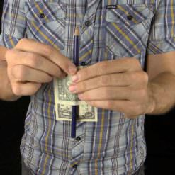 Pencil Trick Pro -No Gimmick Push Through Dollar Magic
