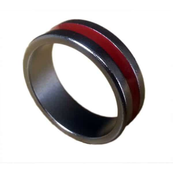 Magnet Ring -Red Stripe VIew 1
