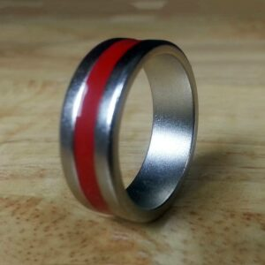 Magnet Ring -Red Stripe VIew 3