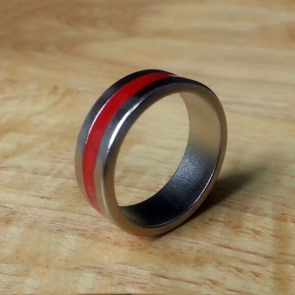 Magnet Ring -Red Stripe VIew 2
