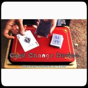 Wow Card Change Device. Magic sleeve to change cards