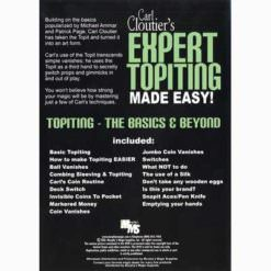 Expert Topiting Made Easy. Back of DVD