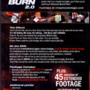 extreme burn 2.0 backside cover information
