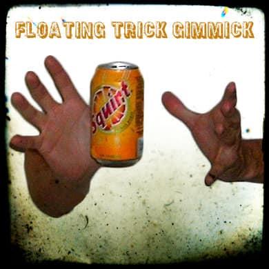 Floating Soda Can in Between Hands