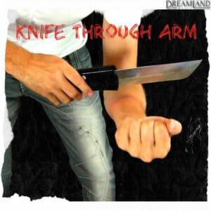 Knife through arm magic trick