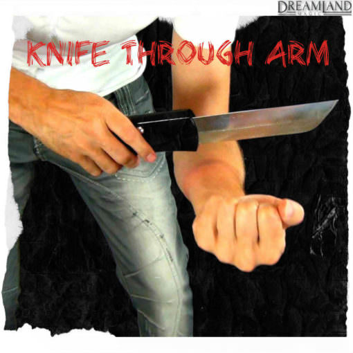 Knife through arm magic trick