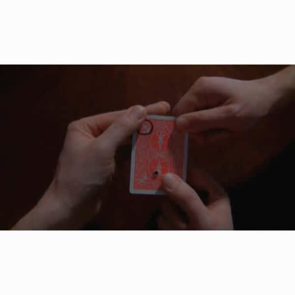 Spectator holds card while hole moves -Porthole