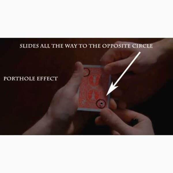 Porthole -Hole ends up across card