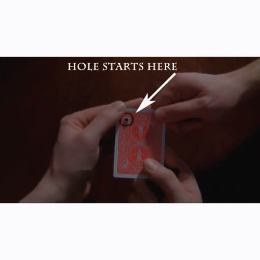 Punched hole starts to move