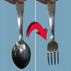 Change a spoon to a fork