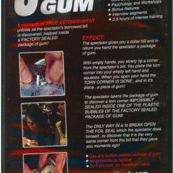 Ultra Gum Trick -Back of DVD